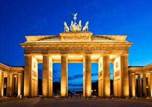Brandenburg Gate in Berlin at night. Germany.