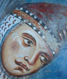 Amor celeste, dettaglio, Aula Gotica, Complesso dei SS. Quattro Coronati, Roma