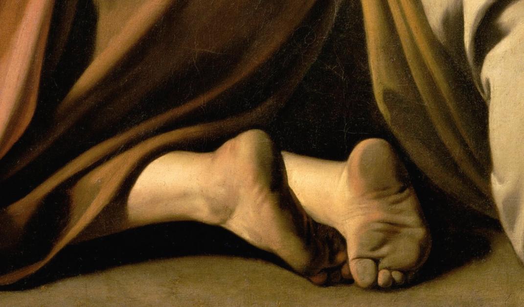 I piedi sporchi di Caravaggio