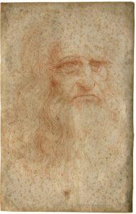 Leonardo Da Vinci, Autoritratto, 1515-1516 circa, Biblioteca Reale, Torino