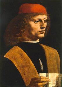 Leonardo da Vinci, Ritratto di musico, 1485, Biblioteca Ambrosiana