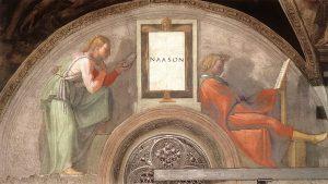 Michelangelo Buonarroti, Gli antenati di Cristo: Naasson e la moglie, 1511-12 ca., affresco, Cappella Sistina, Musei Vaticani