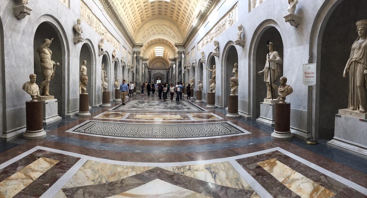 Museo Del Vaticano.La Statua Del Nilo Nel Braccio Nuovo Dei Musei Vaticani